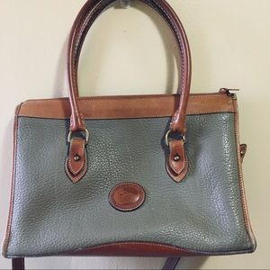 Vintage Dooney Bourke All Weather Leather Satchel